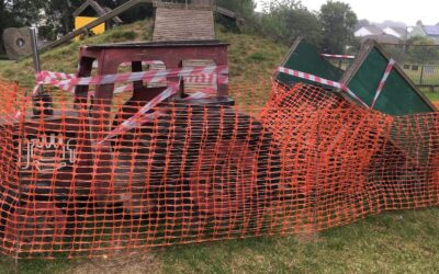 Millbrook tractor park – faulty play ground equipment