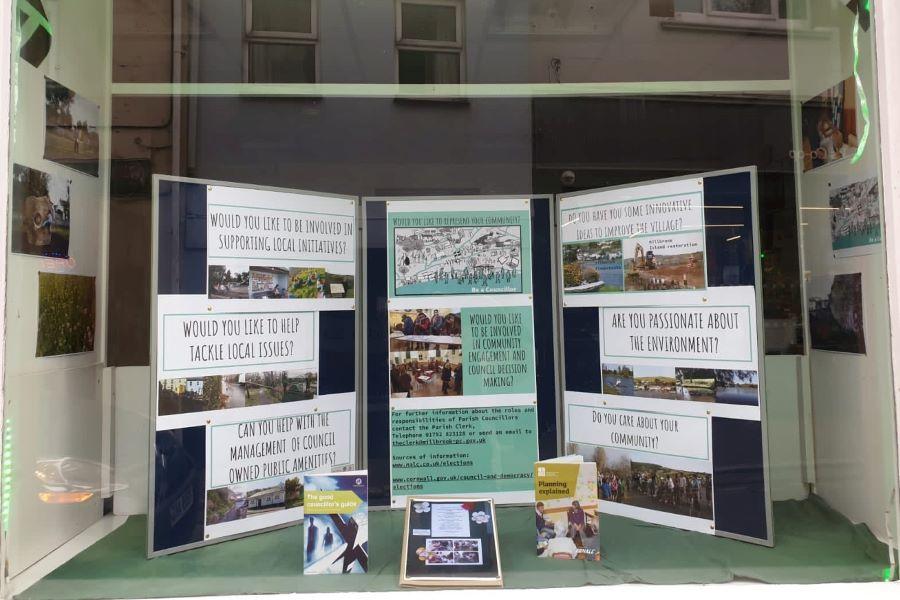 Rame Centre window display
