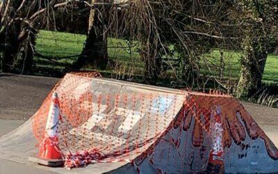Millbrook Skatepark jumpbox repair works