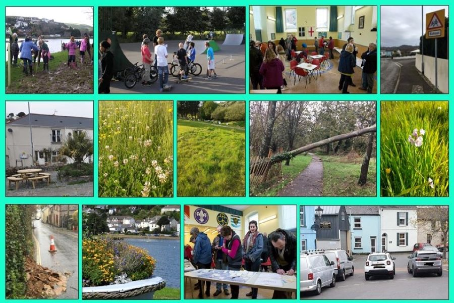 Imagines of Millbrook and Parish Council work