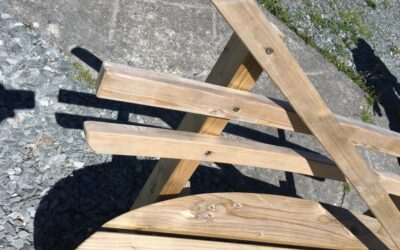 Damage to a picnic bench